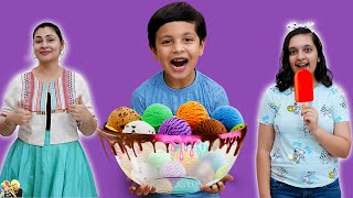 ICE CREAM KA TWIST | Ice Cream Sandwich Challenge | Eating challenge | Aayu and Pihu Show