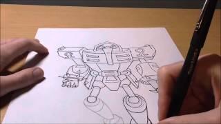 How to Draw: E-123 Omega