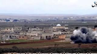 deaş kamerasından tsk f 16 larının elbab doğusundaki suflaniyah kyne bombardıman grntleri