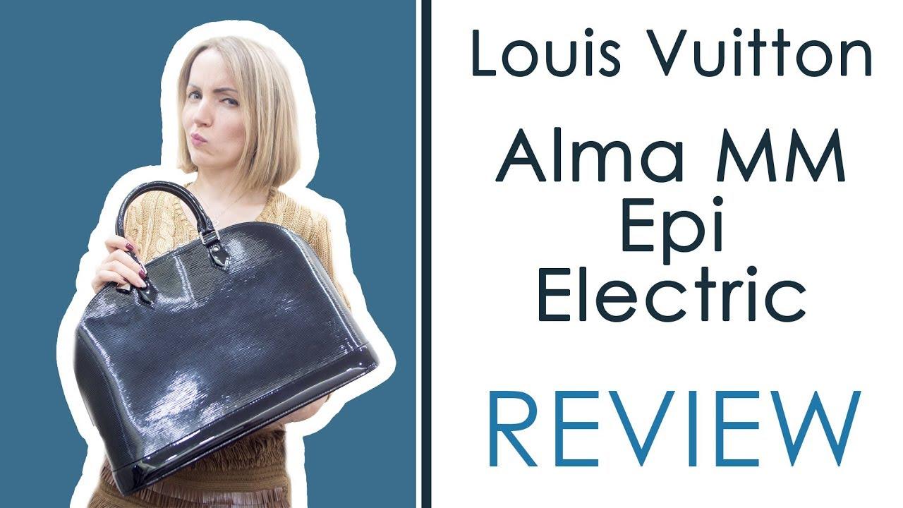 98c329aef80d Louis Vuitton Alma MM Epi Electric vs Epi Comparison   Review - YouTube
