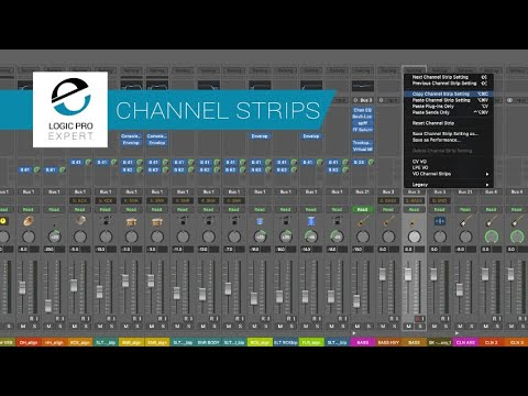 Ever Get Tired of Copying & Pasting Plugins/Sends in Logic? Use These Channel Strip Settings Instead