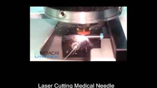Laser cutting needles for medical use. Fiber Laser tube cutting sys...