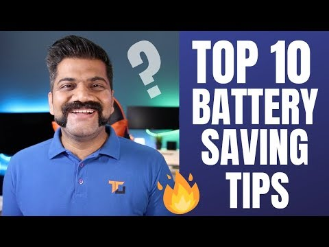 TOP 10 Tips For Battery Saving - Longer Battery In Smartphones!!!🔥🔥🔥