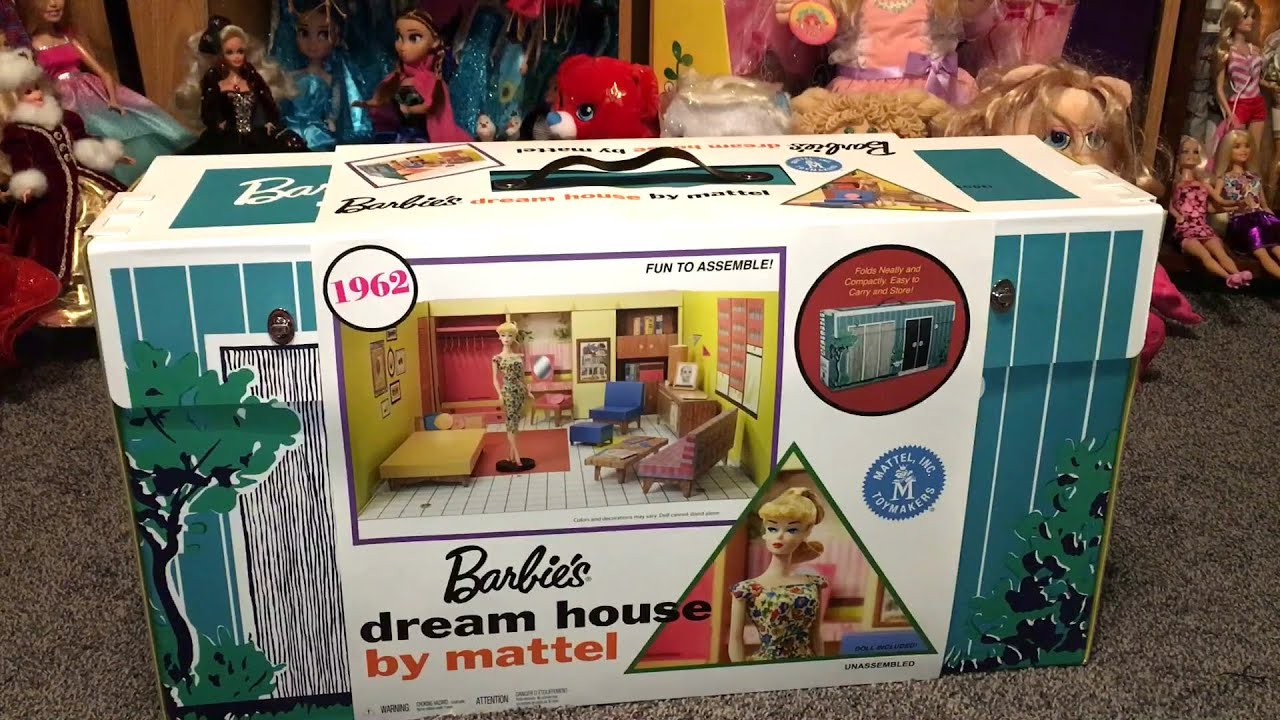 1962 Barbie Dream House Vintage Cardboard Dollhouse W: 1962 Reproduction Barbie Dream House Box Opening