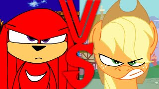 Knuckles VS Applejack
