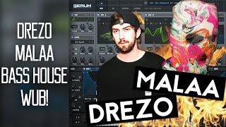 Malaa & Drezo Heavy House Bass in Serum Tutorial (Free Preset)