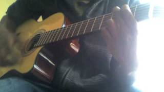 Naruto op 6 with a classic guitar.