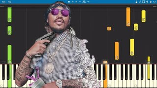 Future - Jumpin' On A Jet Plane - Piano Tutorial Video
