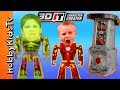3DIT AWESOME Character Creator + HobbyPig Reviews Toy Open HobbyKidsTV