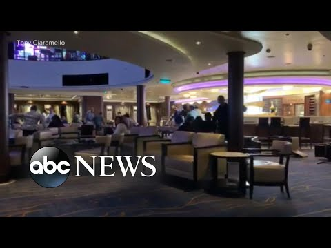 Panic, chaos as wind gusts cause Norwegian cruise ship to lean