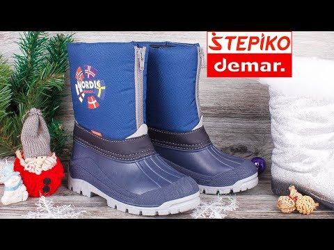 DEMAR New Nordic A 1312A - Детские зимние сноубутсы . Видео обзор от STEPIKO