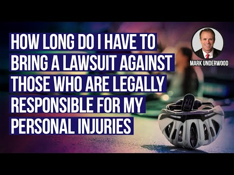 How long do I have to bring a lawsuit tor personal injury in Texas?