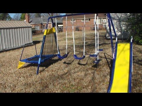 sport power metal swing set part 1
