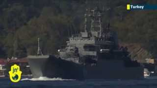 Russian warships en route to Syria: Russian navy sends more ships through Bosphorus to war zone