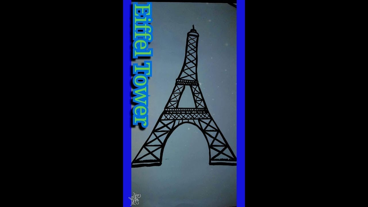 How To Draw Eiffel Tower Fast And Easy Step By Step For Kids And