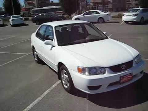 sold 2001 white toyota corolla le for sale at valley toyota youtube. Black Bedroom Furniture Sets. Home Design Ideas