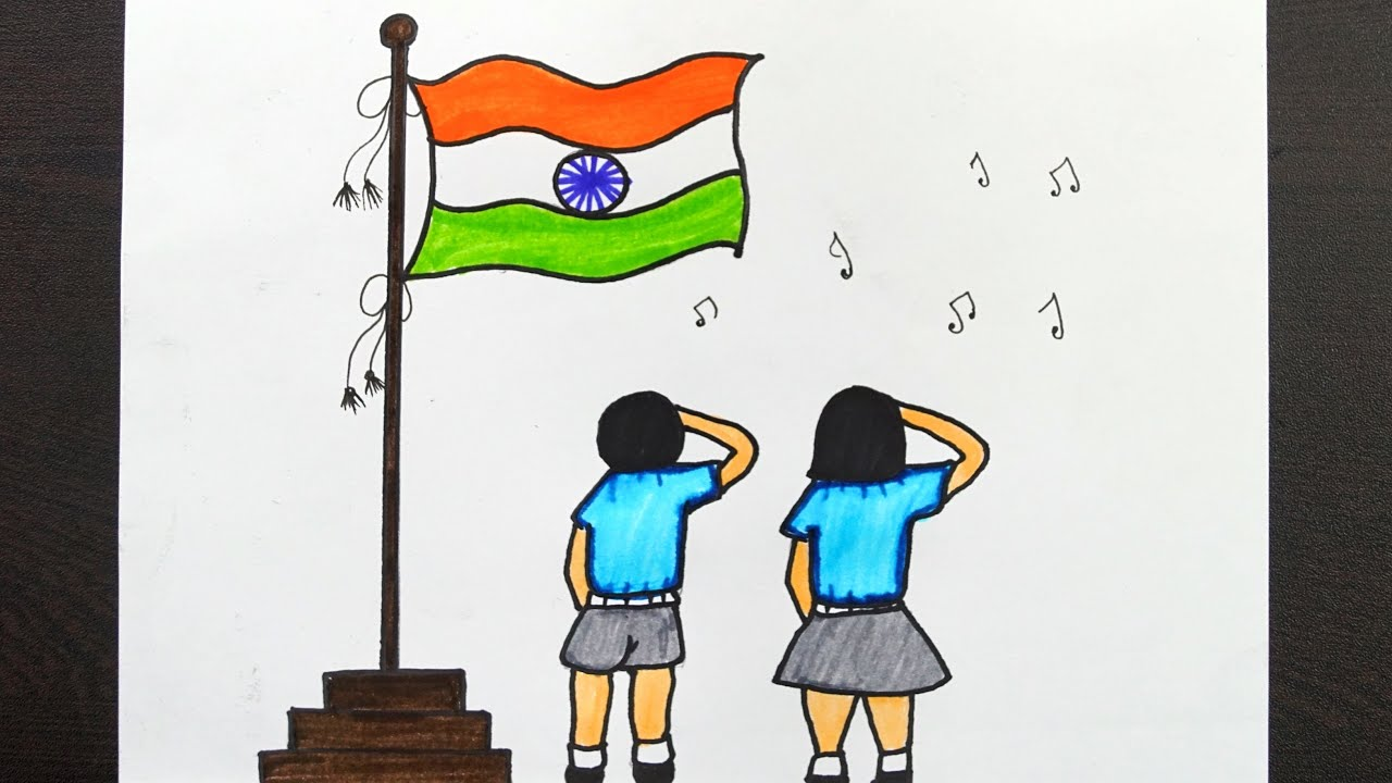 Republic Day Drawing For Kids 26 January Special Drawing Flag Drawing Easy Youtube