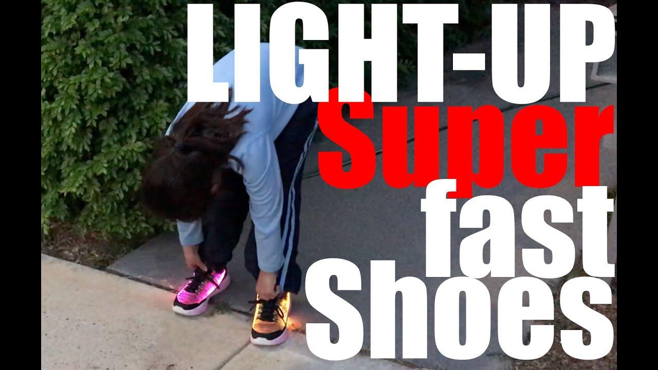 90f11a29b0cff Hannah's Epicness - Super Fast Light-Up Running Shoes - Episode 7 ...