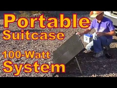 Solar Series #2: Super Easy Portable Suitcase System