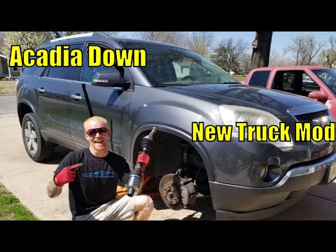 DIY 2007-2016 gmc acadia cv axle replacement