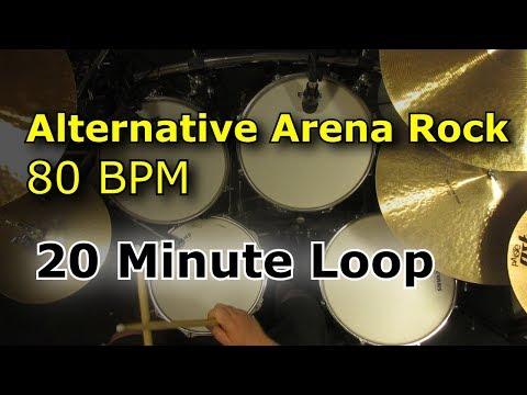 20 Minute Drum Loop - Alternative Arena Rock 80 BPM