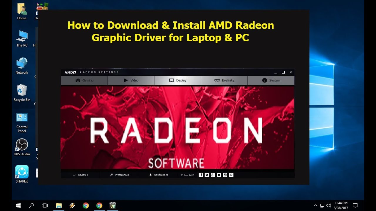 AMD Graphics Windows