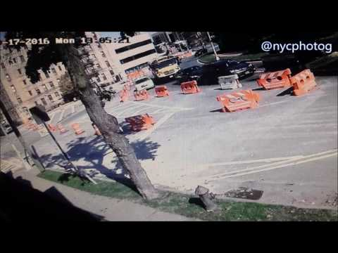Drivers Barrel Through NYC DOT Protective Barriers  On Kings Hwy E.34 St