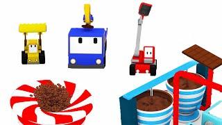Die Schokoladenfabrik - Lerne mit den kleinen Trucks 👶 🚚 | Lehrreiche Cartoons für Kinder