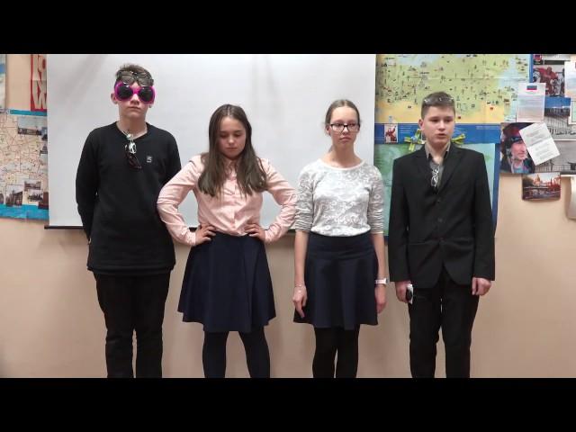 Изображение предпросмотра прочтения – «Учащиеся 7Б класса лицея №64 г. Санкт-Петербурга» читает произведение «Мартышка и очки» И.А.Крылова