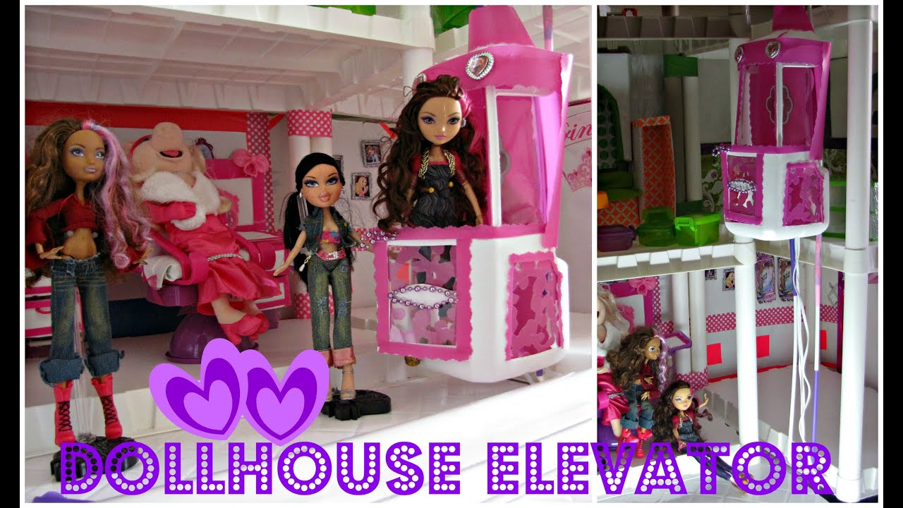 How To Make A Dollhouse Elevator Bratz Ever After High Barbie
