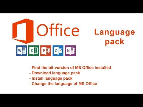 Change the language of the MS Office programs