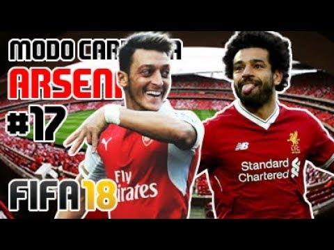4RSENAL VS SALAH FC (SEM DOPING) 🔴⚪ Modo Carreira #17 Arsenal FC [FIFA 18]