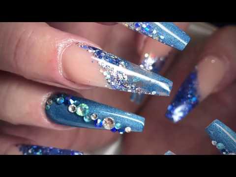 Navy Blue Long Ballerina/Coffin Nails   Acrylic Nails   Not Polish