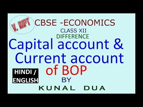 Difference capital account and current account of BOP (Hindi / English)