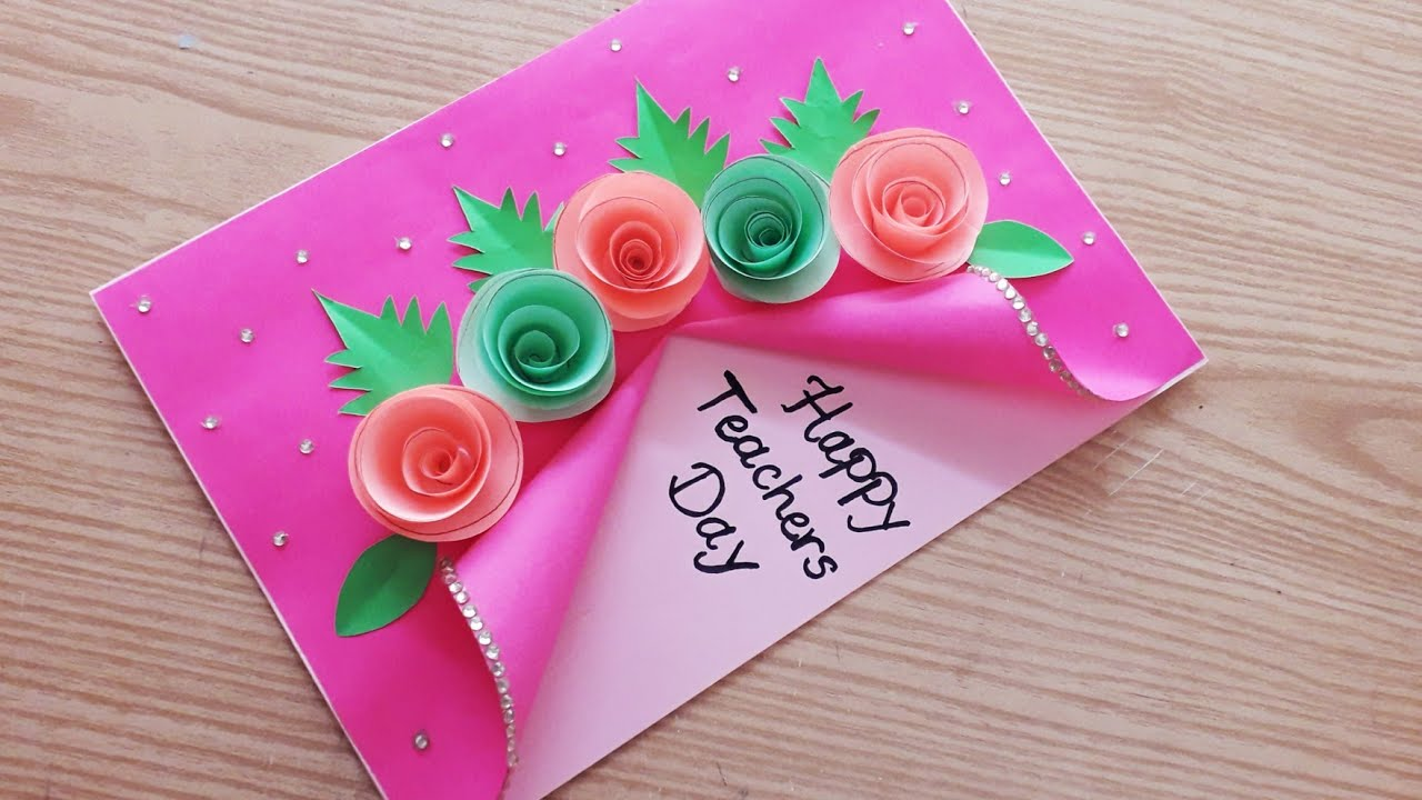 Special Handmade Teacher's Day Card // Beautiful Teacher's ...
