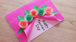 Special Handmade Teacher's Day Card // Beautiful Teacher's Day Card Making/ #Teachersdaycard
