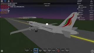 SriLankan Airlines flight! On board the Airbus!!! ROBLOX (Part 3)