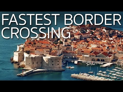 Fastest Border Crossing Ever! Traveling from Mostar Bosnia to Dubrovnik Croatia