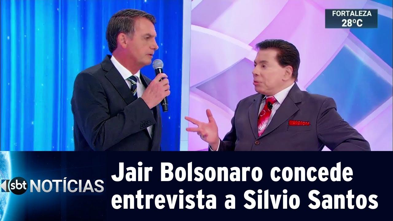 Jair Bolsonaro concede entrevista a Silvio Santos | SBT Notícias (06/05/19)
