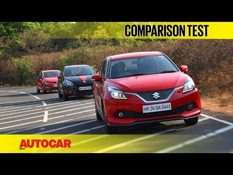 Maruti Baleno RS vs Fiat Abarth Punto vs VW Polo GT TSI | Comparison Test | Autocar India