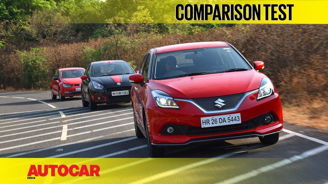 maruti baleno rs vs fiat abarth punto vs vw polo gt tsi