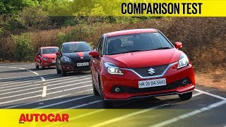 Maruti Baleno RS vs Fiat Abarth Punto vs VW Polo GT TSI | Comparison Test | Autocar India