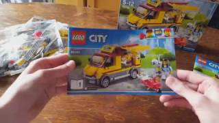 Lego City Pizza Van Set 60150 - Opening,Speed Build And Review