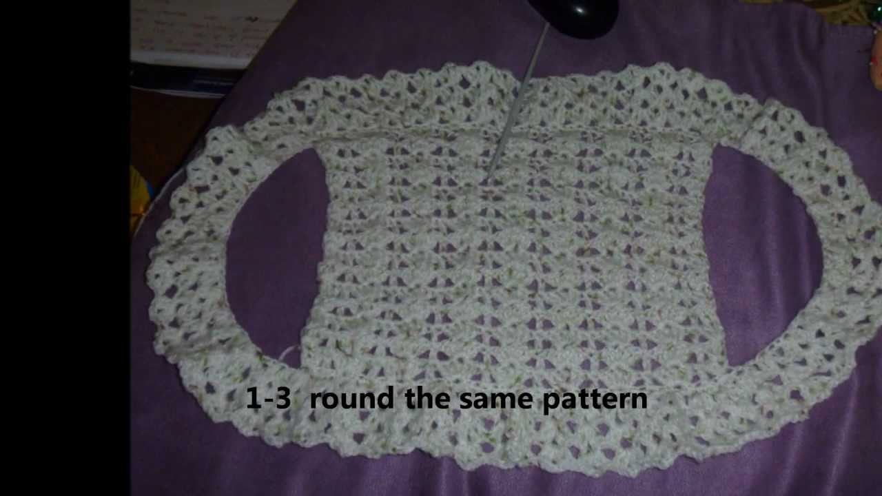 How To Crochet A Simple Boleroshrug For Children With Step By Step