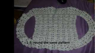 how to crochet a simple BOLERO/SHRUG for children with step by step method
