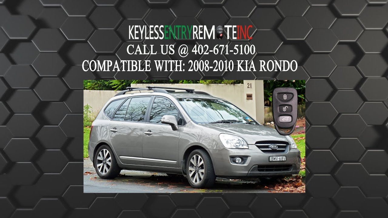 hight resolution of how to replace a kia rondo key fob battery 2007 2010