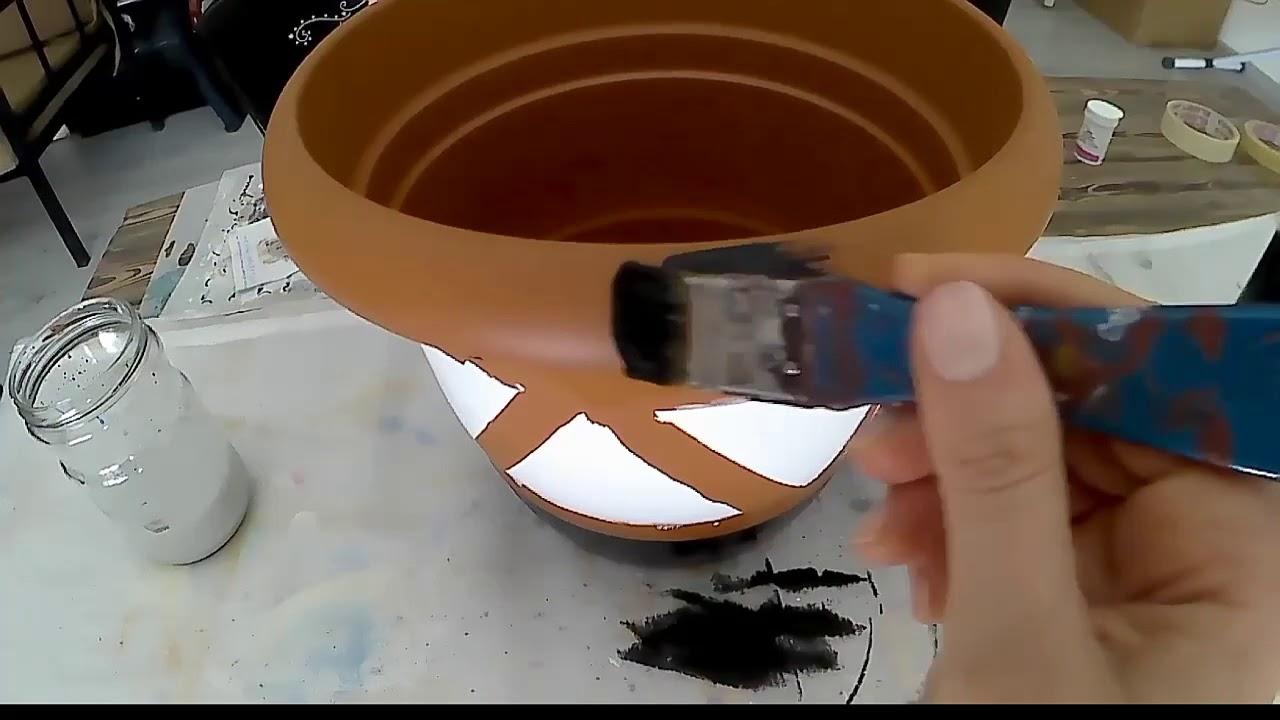 Dekoratif Saksı Boyama Youtube