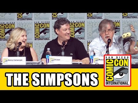 The Simpsons Comic Con 2015 Panel - Season 27, Matt Groening, Nancy Cartwright, Guillermo del Toro