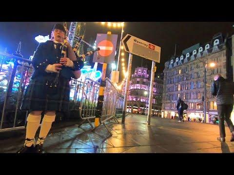 Hello EDINBURGH, SCOTLAND! Exploring the City at Night