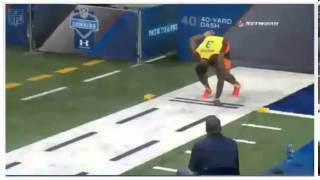 Amazing Offensive Lineman Runs a 4.65 on the 40 Yard Dash!!!